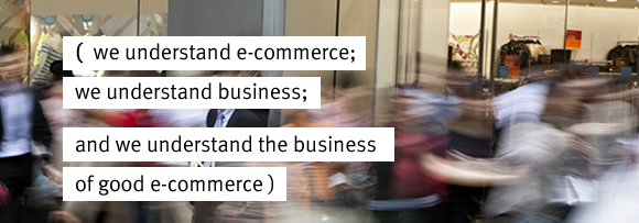 we understand e-commerce; we understand business; and we understand the business  of e-commerce